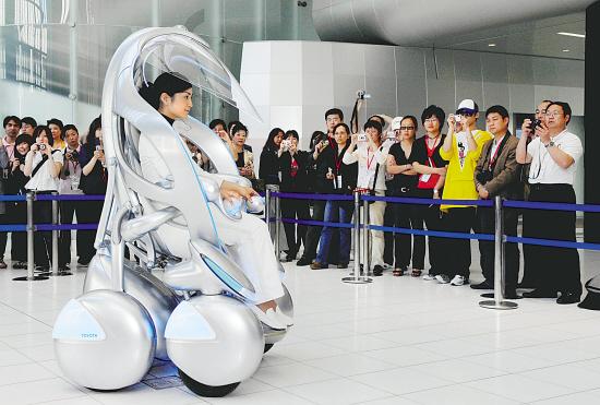 丰田i-unit概念车,可躺着坐着驾驶